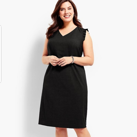 5fdc429f Talbots Dresses | Seasonless Wool Ruffle Sleeveless Dress | Poshmark